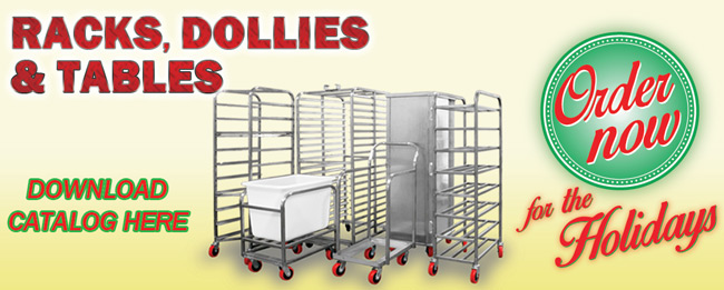 Bakery Racks, Dollies and Tables